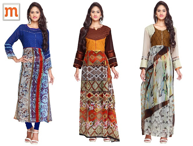 Georgette Kurtis from Moksha Fashion- Ethnic and Elegant Wear