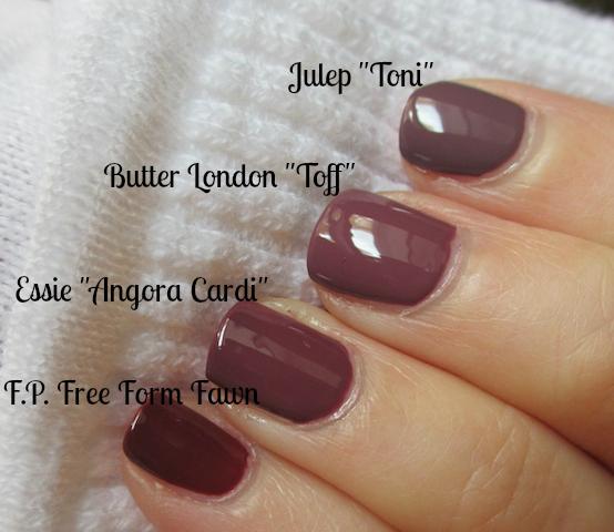 Butter London Essie Finger Paints Julep Nail Polish