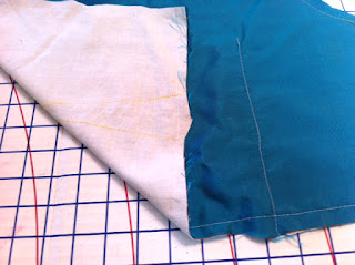 Silk and Muslin- darts sewn down center