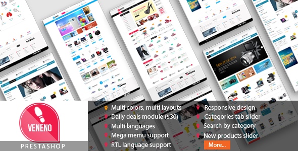 download Veneno - Multipurpose Responsive Prestashop Theme