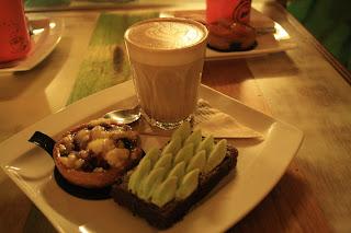 Latte, Plum Crumble, Crumble, Brownie, Orange Brownie, Dessert, Adelaide, Food, SAFood, By Blackbird,