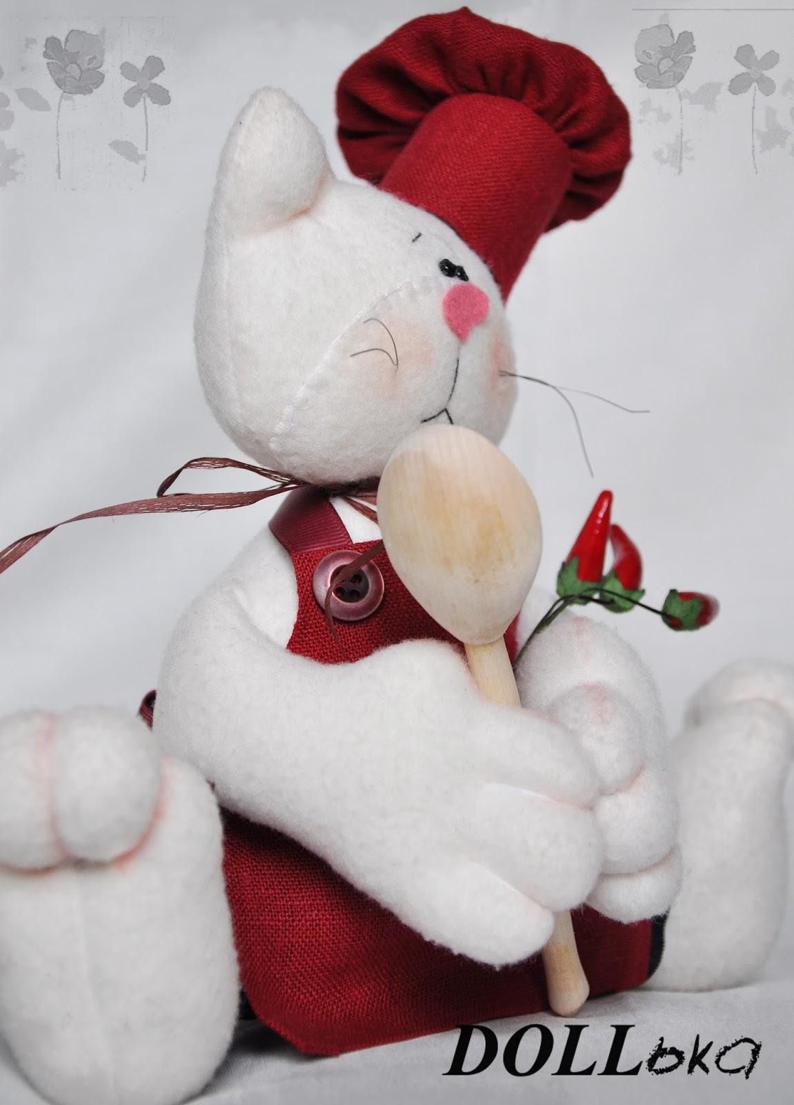 Кот текстильная игрушка ручной работы