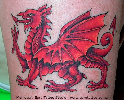 zimbio celebrity welsh dragon tattoo. Black Bedroom Furniture Sets. Home Design Ideas