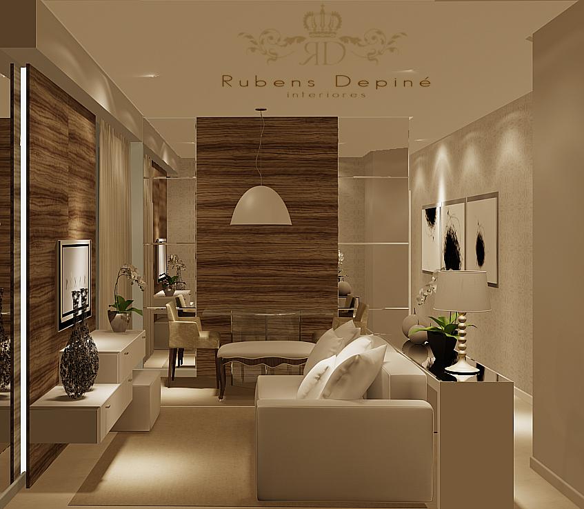 Sala De Estar Moderna Pequena ~ Sonhando com o apê Salas de estar e jantar e duvidas