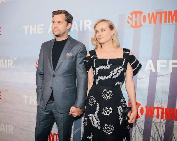 DIANE KRUGER AND JOSHUA JACKSON WEARS ERMENEGILDO ZEGNA GREY SUIT TO New York PREMIERE OF THE AFFAIR