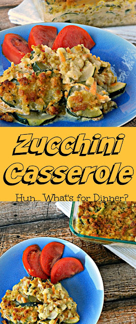 Zucchini Casserole with stuffing- Hun... What's for Dinner?
