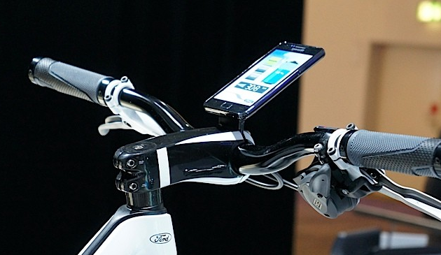 2011 Ford E-Bike Concept and iPhone