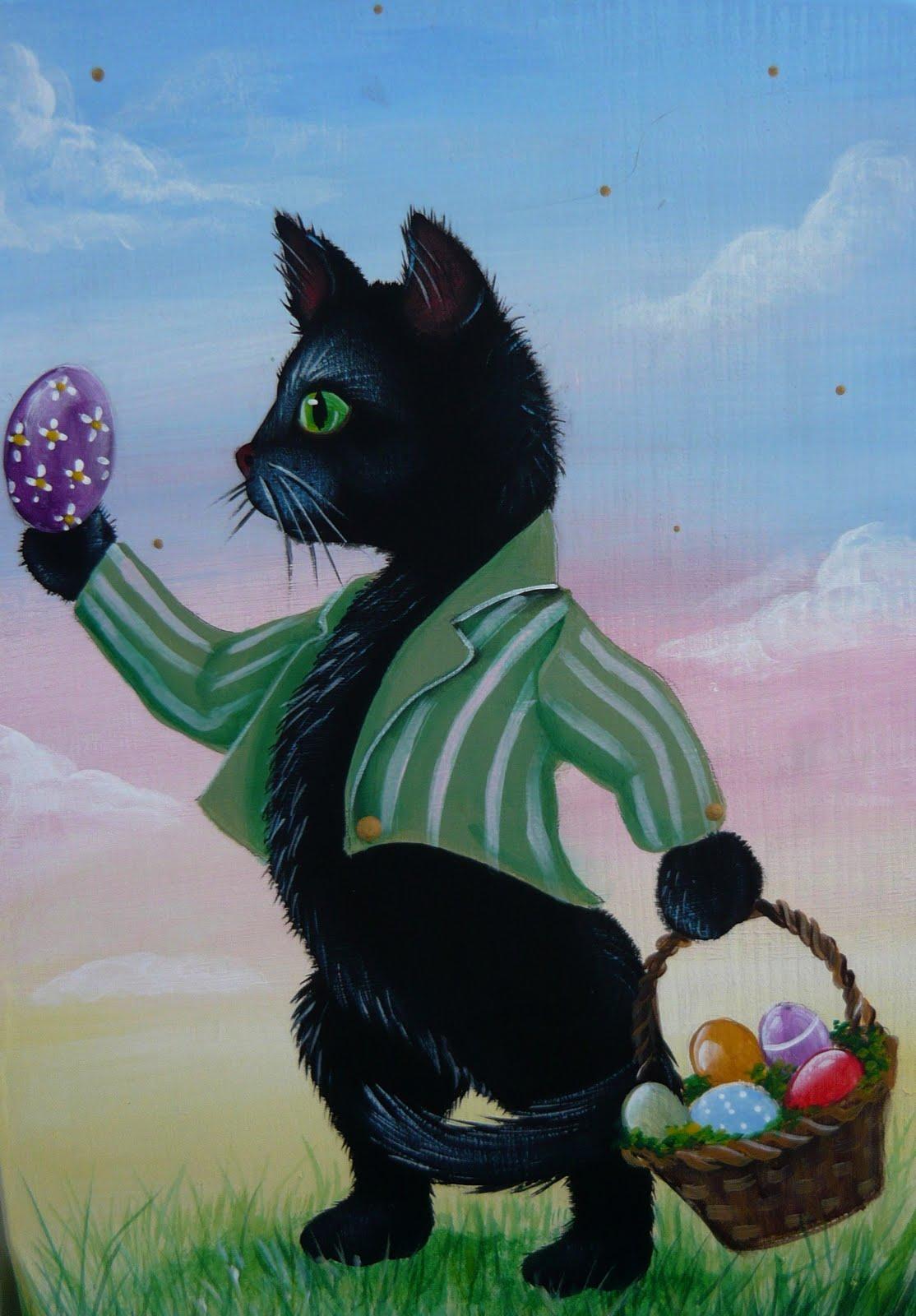 magic brush studio black cat s easter egg hunt on e bay