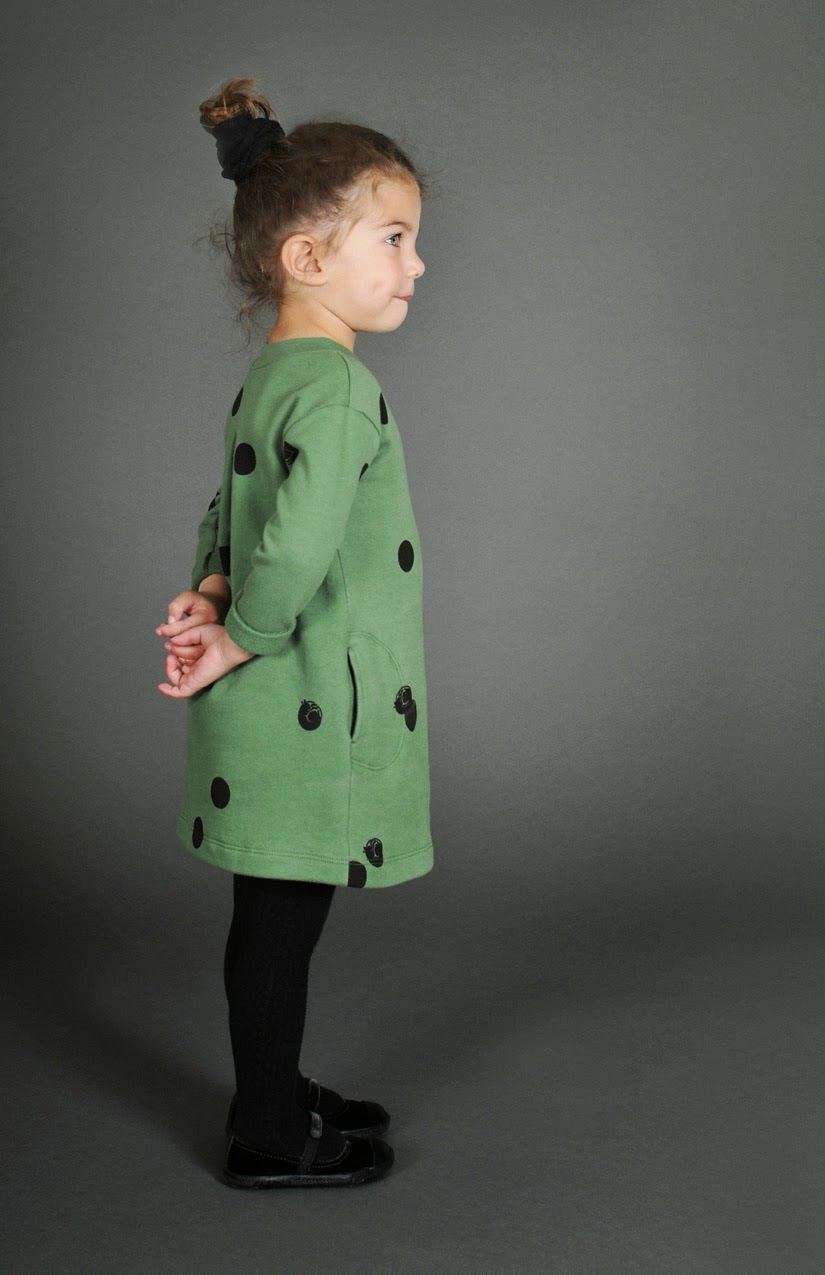 dotty dress by Omamini for Autumn/Winter 2014-15 kids clothing collection