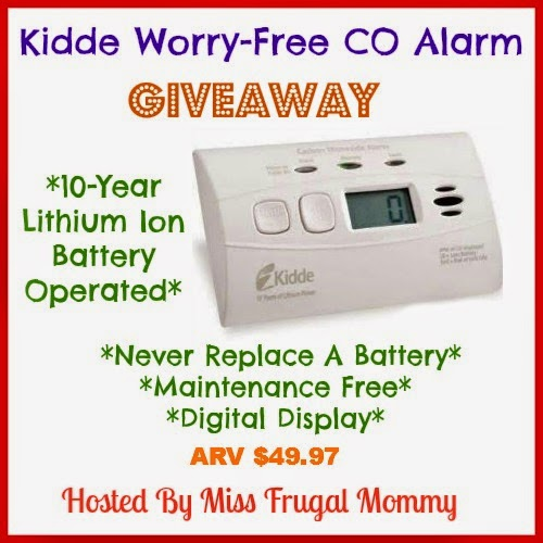 The Kidde Worry-Free CO Alarm Giveaway