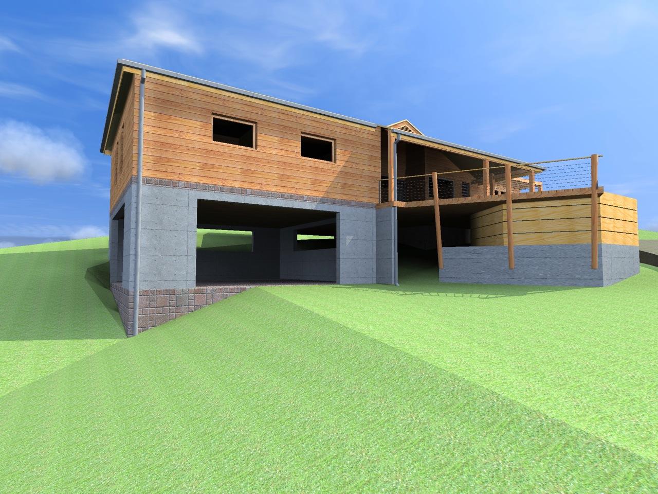 Notre maison marie galante plans visuels et conception - Maison sur terrain pentu ...