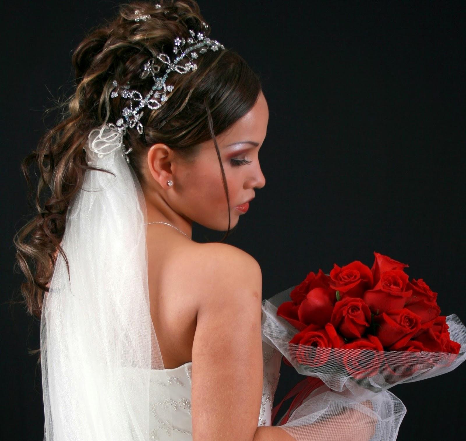 Peinados de novia negro