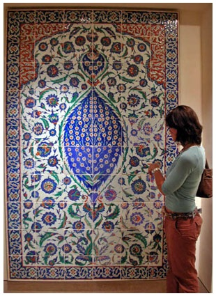 Çalıntı Türk eserleri çini Louvre