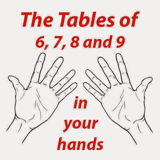 tablas de multiplicar del 6, 7, 8 y 9