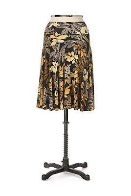 Anthropologie Locust Leaf Skirt