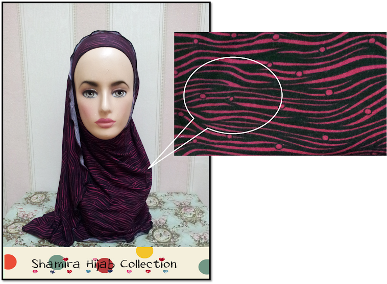 Shawl Corak. Pink & Black
