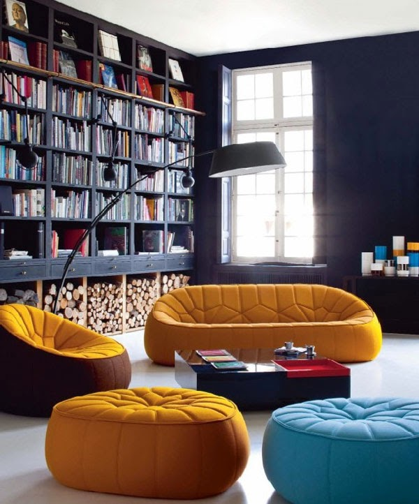 Cozy corners and interesting ideas in the design of living for Cozy reading room design ideas