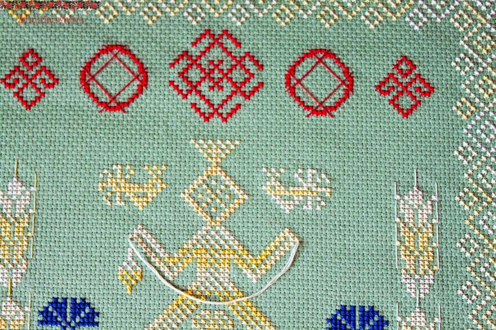 Даждьбог в вышивке схема 13