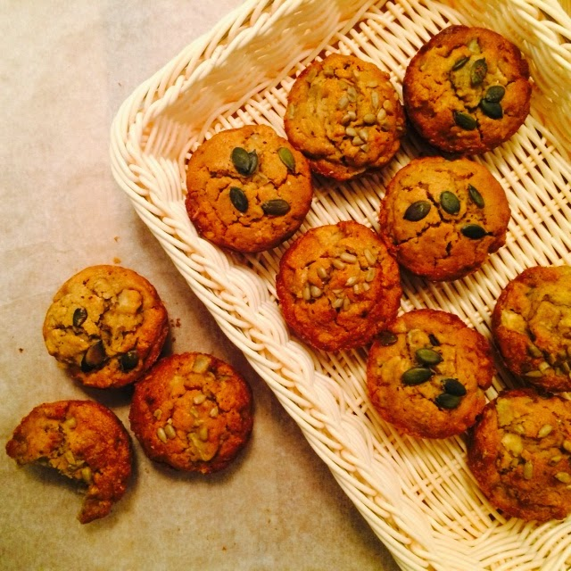Healthy Pear & Seeds Breakfast Muffins Recipe