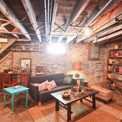 Vintage junkies featured on nicole curtis rehab addict for Best way to build a basement