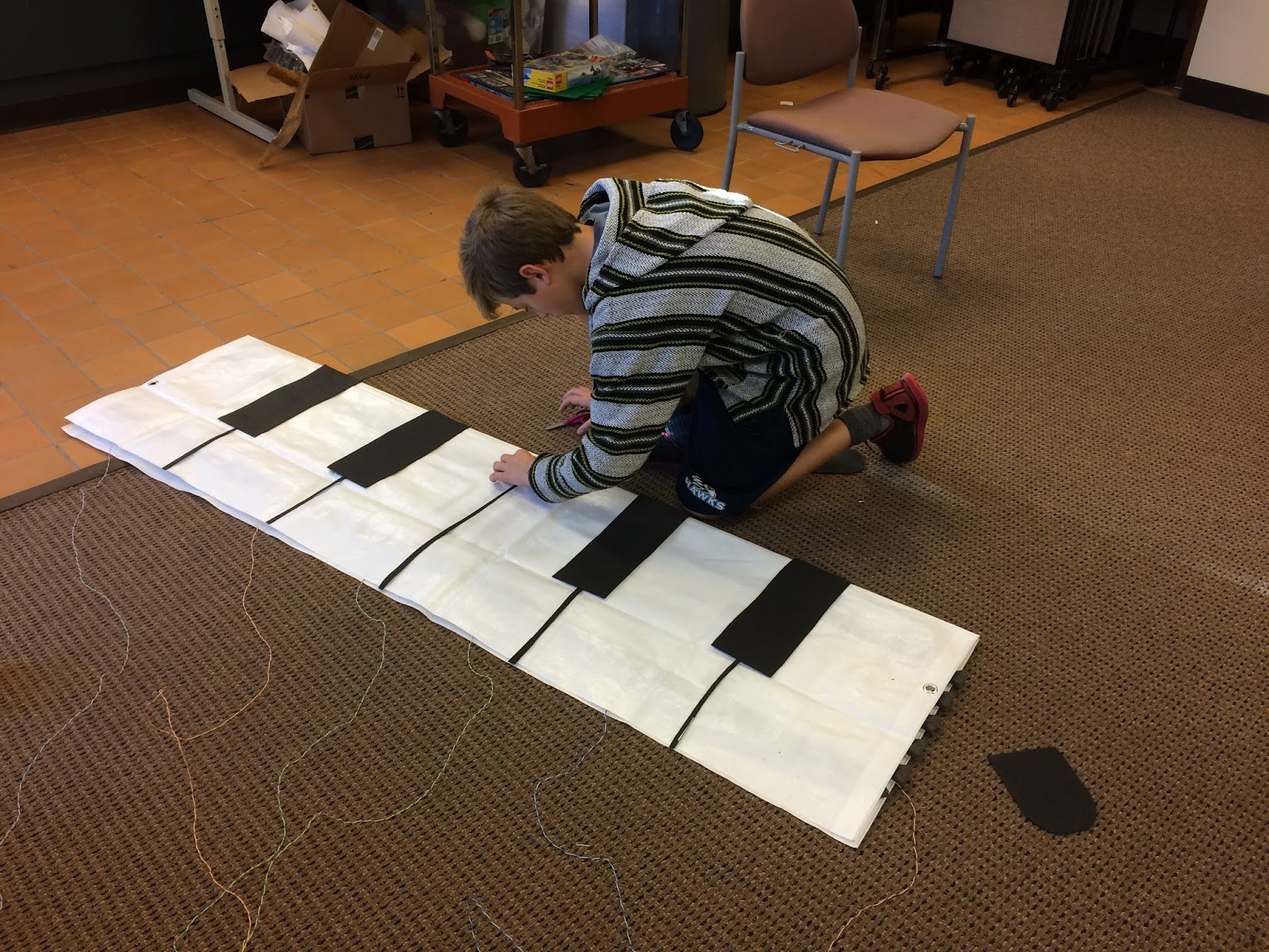 Library As Makerspace Makey Makey Floor Piano