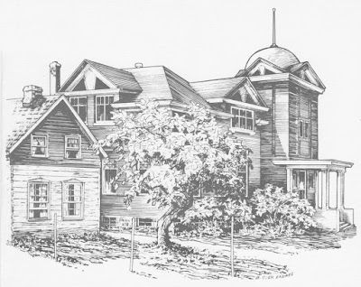 Sketch of the Historical Museum of St. James-Assiniboia at 3180 Portage Avenue.