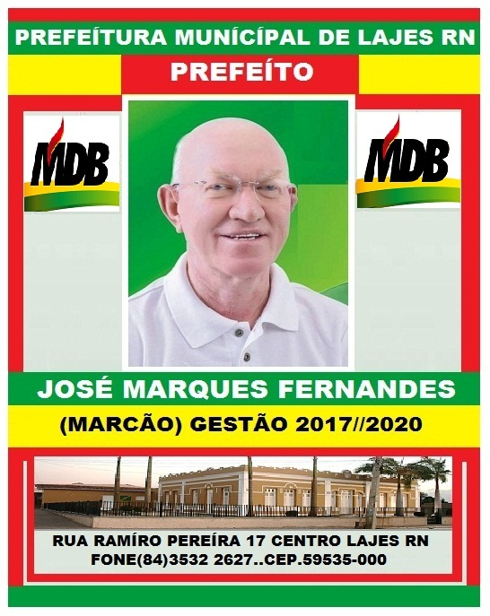 LAJES PREFEITO JOSÉ MARQUES FERNANDES