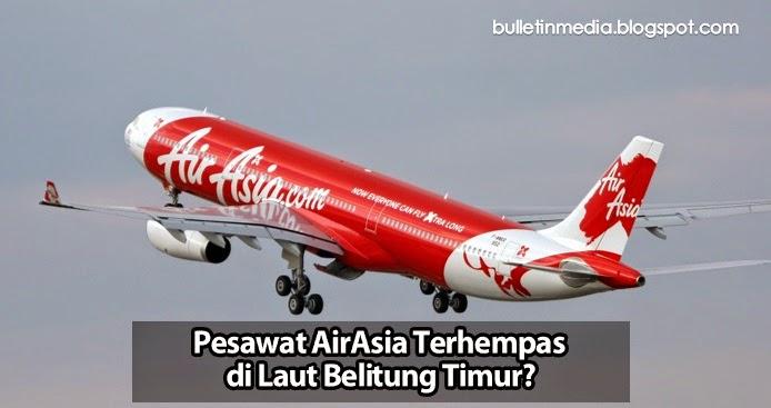 Pesawat AirAsia Terhempas di Laut Belitung Timur?