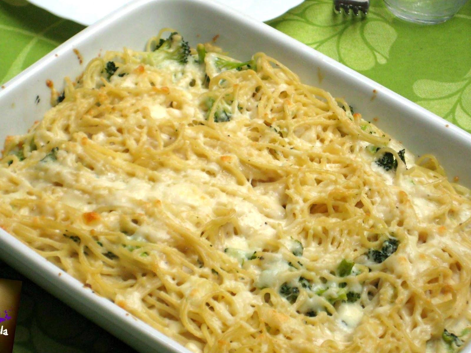 Pasta con br coli cocina - Bechamel con nata para cocinar ...