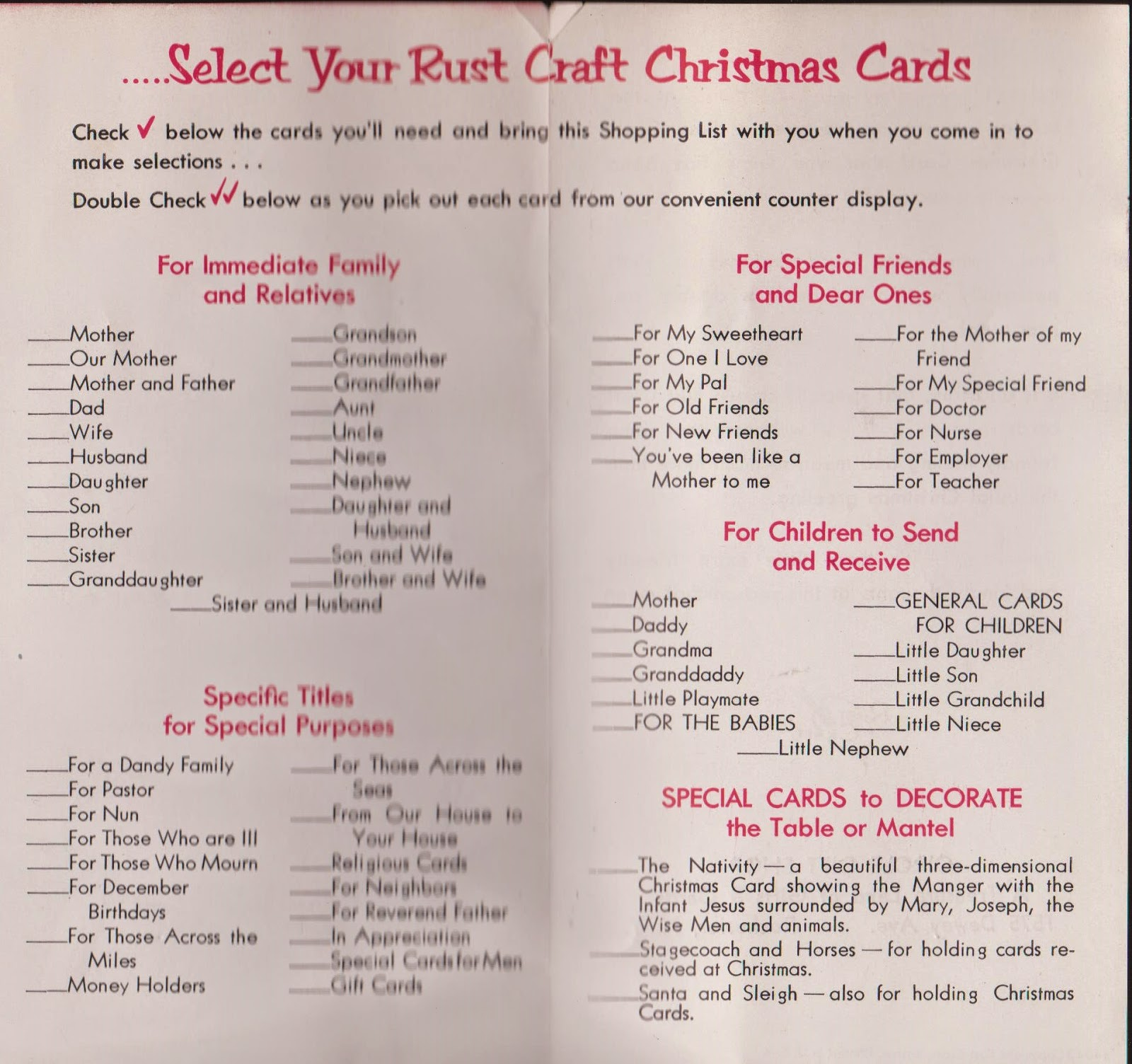 Vintage Recycling Ye Olde Christmas Card List