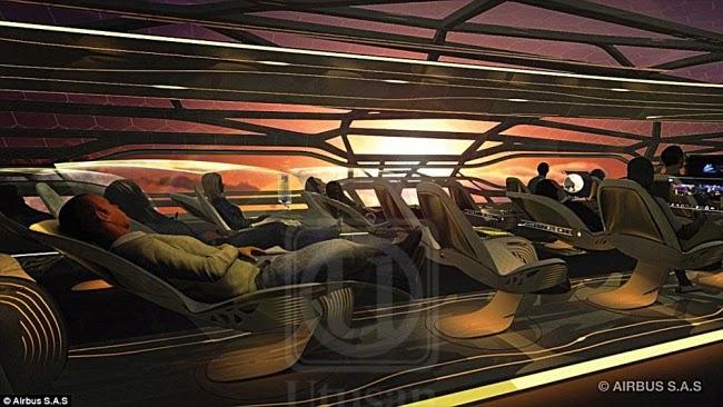 Pesawat masa depan penumpang boleh nikmati pemandangan luar pesawat