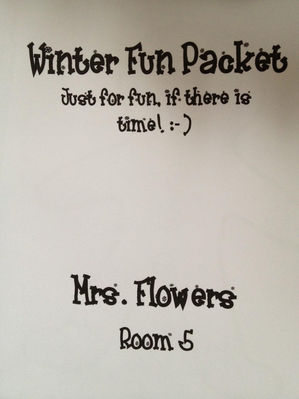 Mrs. Flowers\' Classroom: Winter Fun