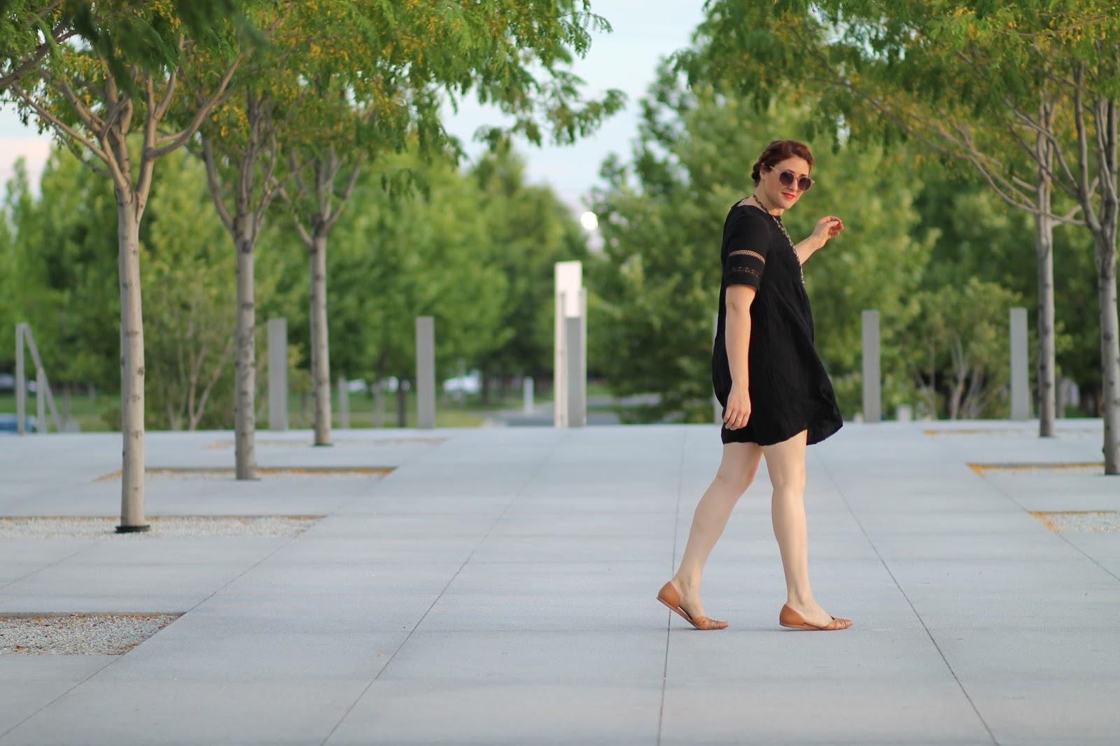 aritzia, black, sonore, dress