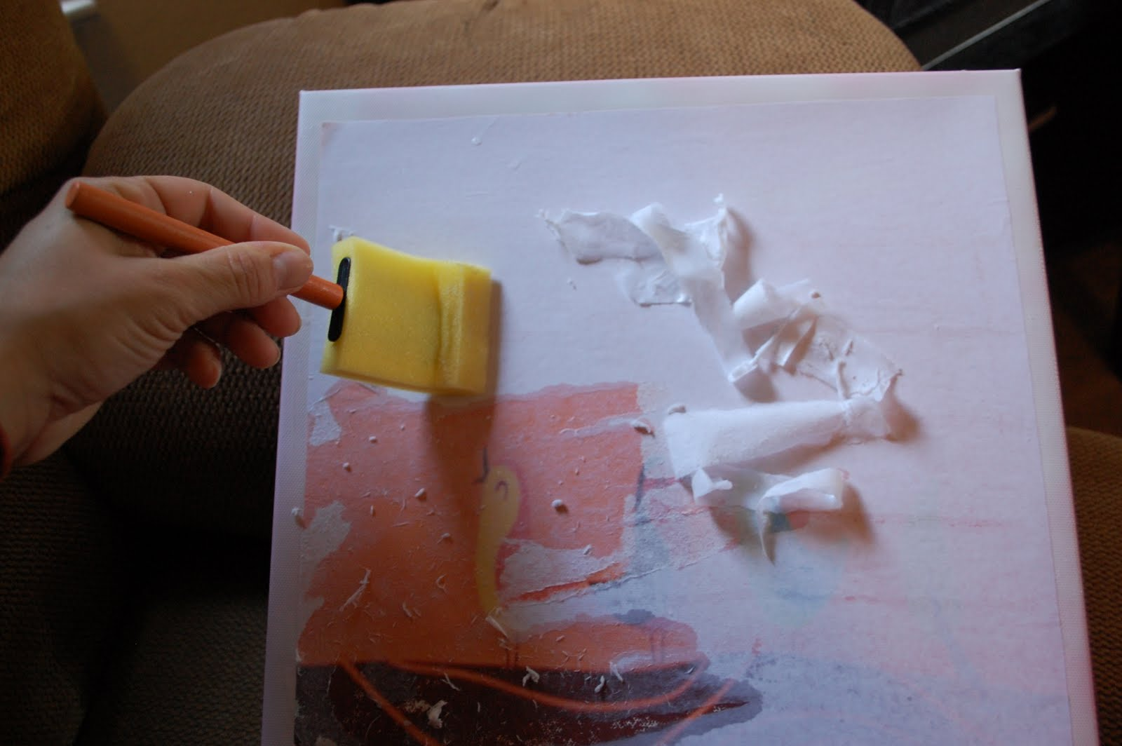 Life Without Whiteout: DIY Canvas Wall Art