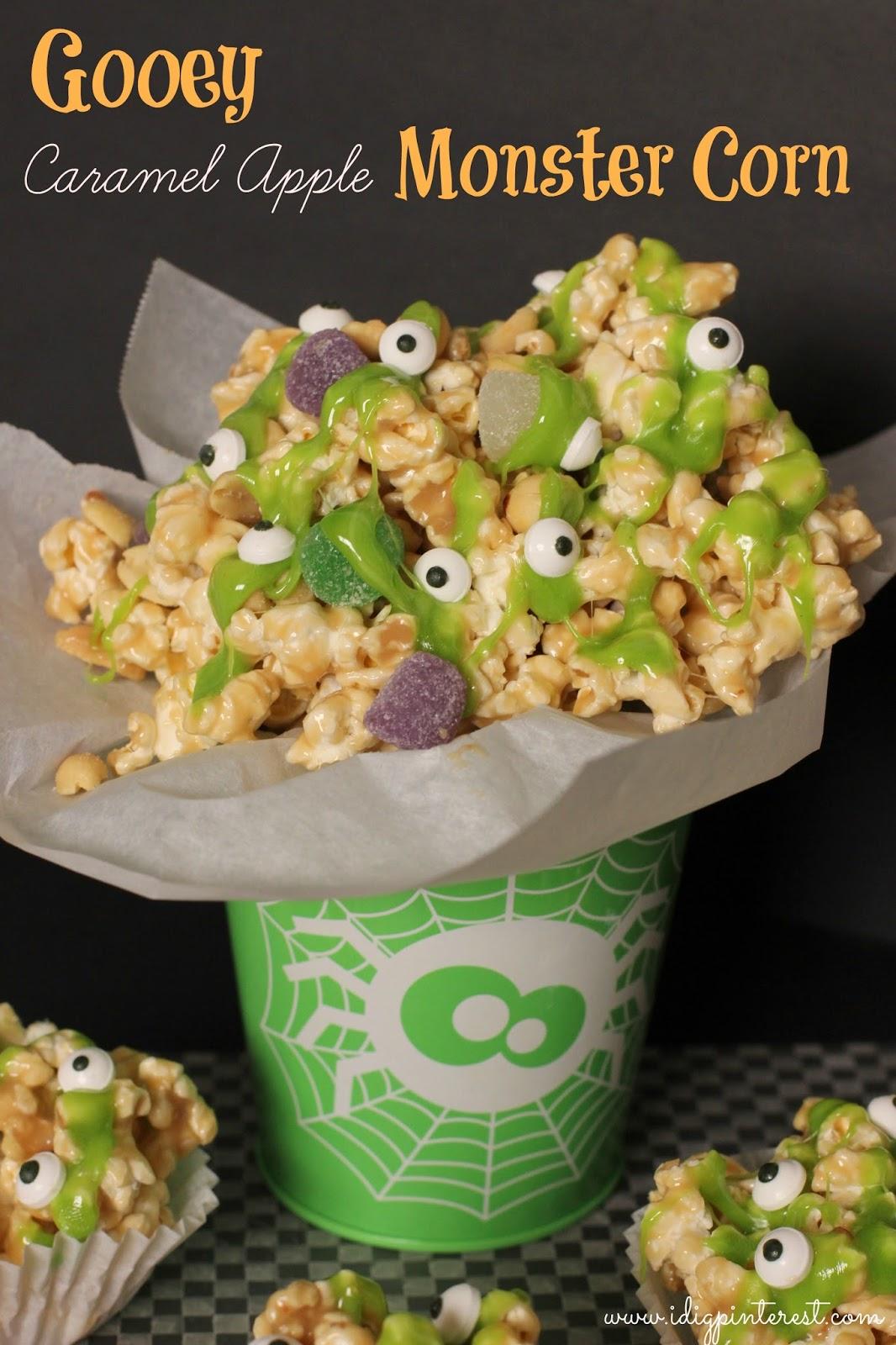 halloween candy apple ideas gooey caramel apple monster corn i dig pinterest - Caramel Apple Ideas Halloween