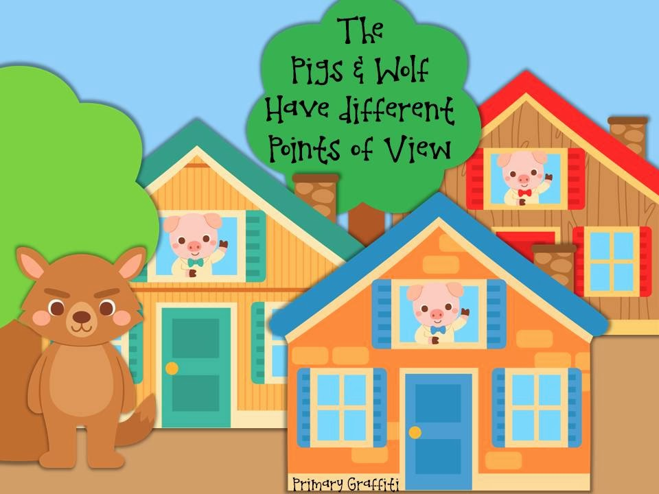 http://www.teacherspayteachers.com/Product/The-Pigs-and-Wolf-Have-Different-Points-of-View-1130478