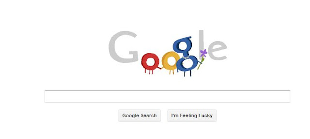 Imagem do Doodle da página inicial da Google com a animação do Dia das Mães