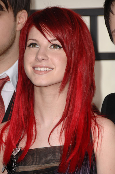 First, the lead singer form Paramore, Hayley Williams.