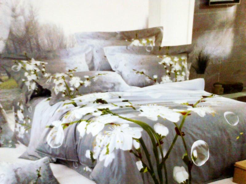 Sprei Jepang Motif Bunga Anggrek Putih