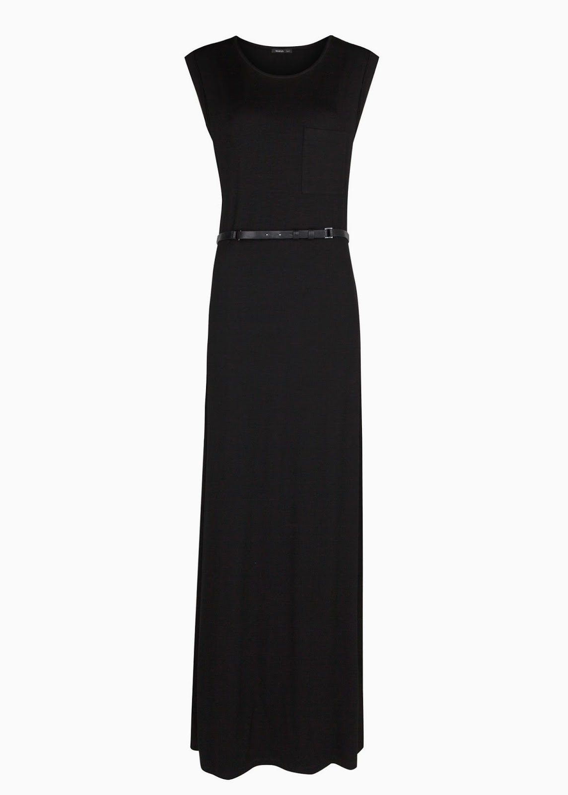 mango black maxi dress