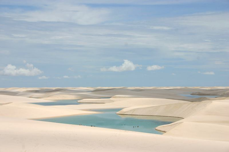 Desert lagoons in the state of Maranhão, Brazil.