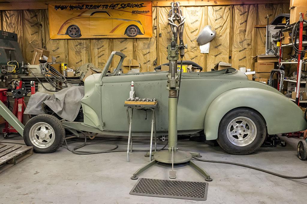 Project Car at Craig Naff's Shop