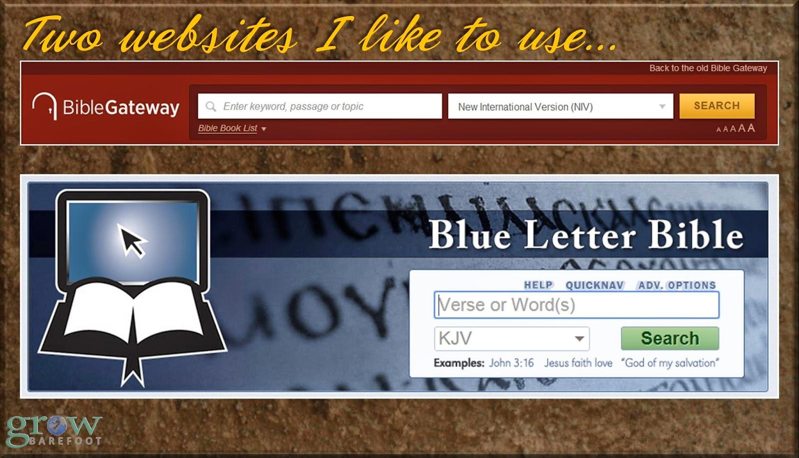 blue letter bible devotionals grow barefoot june 2014