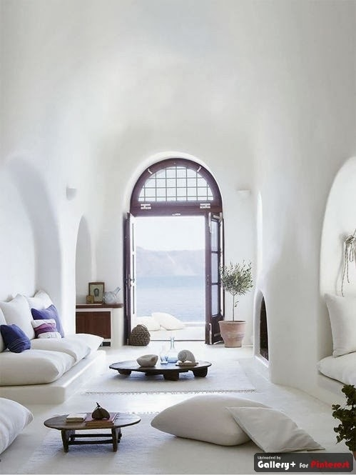 arch doorway, calming interior design, sharp lines