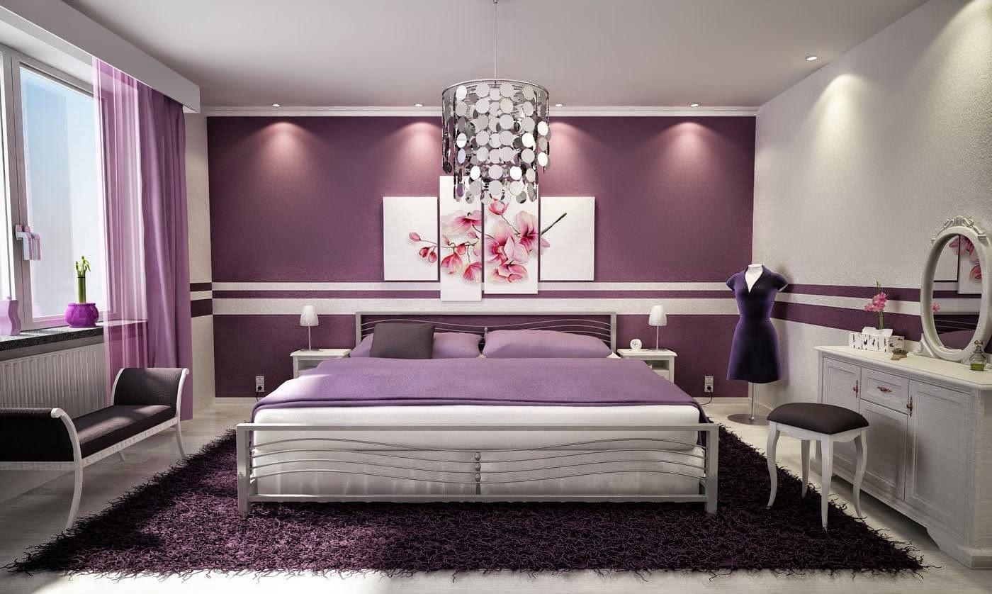 idée chambre adulte violet