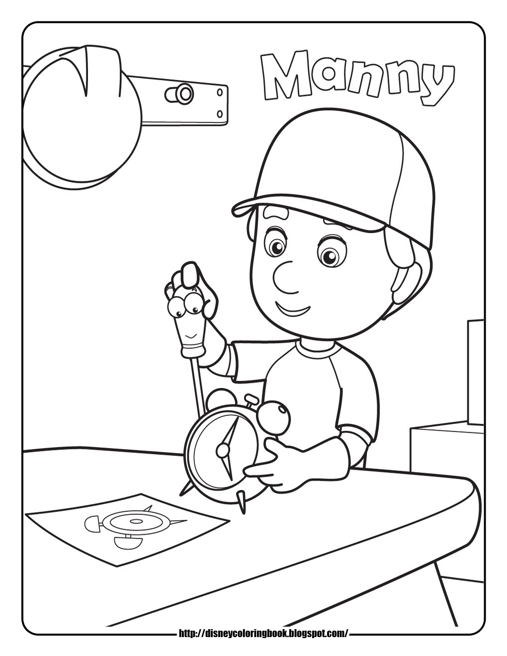 disney coloring pages and sheets for kids handy manny 1 free