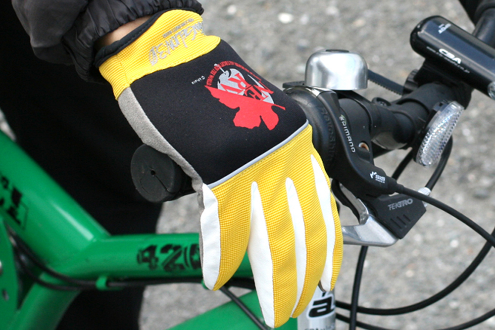 evangelion nerv gloves