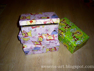 Toy boxes from shoe boxes 2    wesens-art.blogspot.com