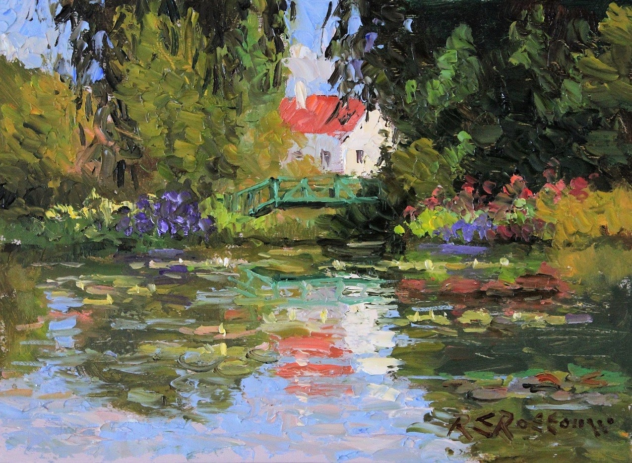Roelof Rossouw The Green Bridge and Lily Pond Giverny