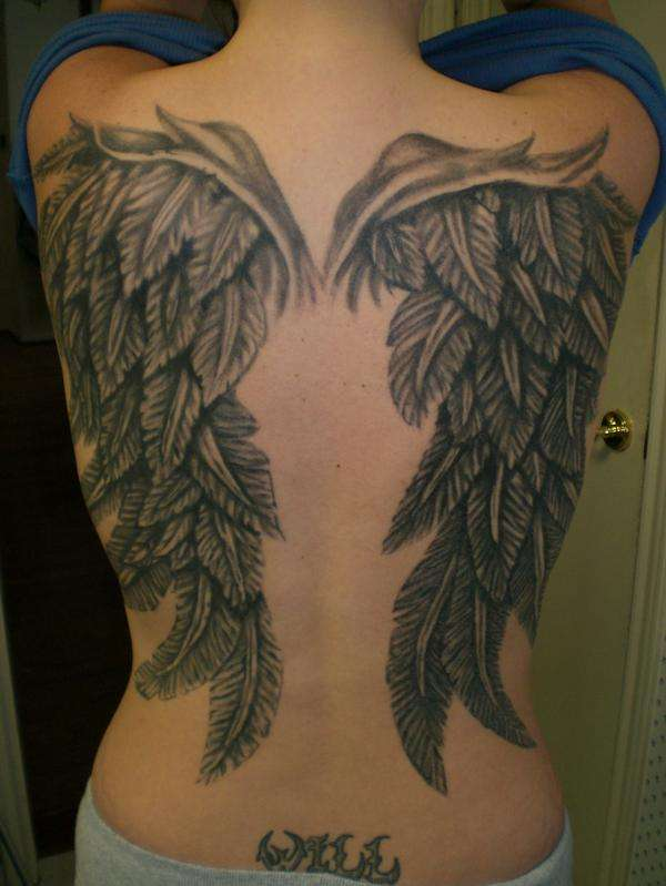 wings tattoo for men japanese tattoos. Black Bedroom Furniture Sets. Home Design Ideas